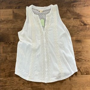 Anthropologie NWT White Tank Blouse